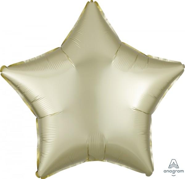 "Anagram Folienballon Stern Satin Luxe Pastel Yellow 50cm/20"""