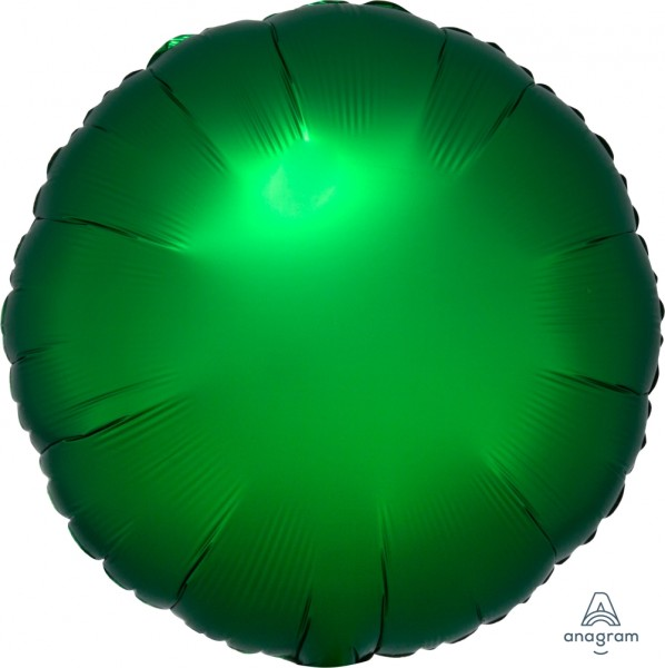 "Anagram Folienballon Rund Satin Luxe Emerald 45cm/18"""
