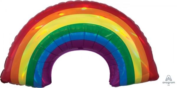 Anagram Folienballon 86cm Breit/48cm Hoch SuperShape Iridescent Regenogen Holo