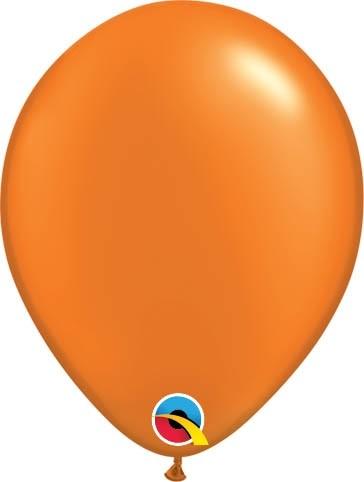 "Qualatex Latexballon Radiant Pearl Mandarine Orange 13cm/5"" 100 Stück"