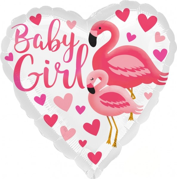 Anagram Folienballon Flamingo Baby Girl 23cm/9""