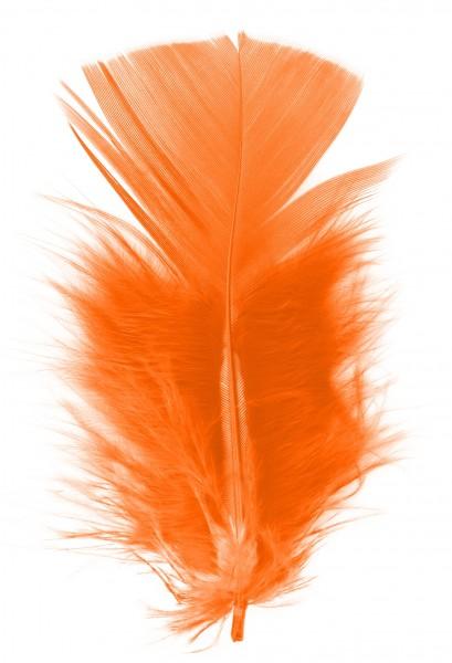 Goodtimes Schmuckfedern ca. 6/8cm orange 100 Gramm
