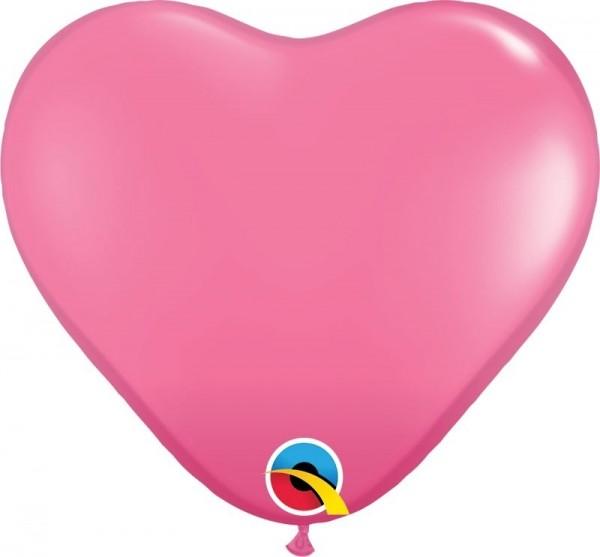 "Qualatex Latexballon Fashion Rose Heart 15cm/6"" 100 Stück"