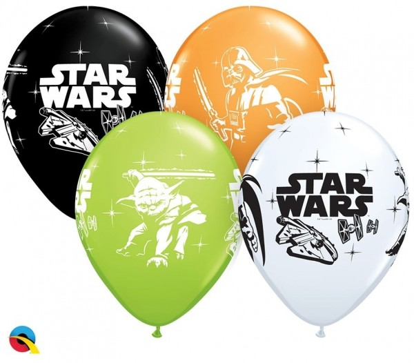 "Qualatex Latexballon Darth Vader & Yoda™ Assortment 28cm/11"" 25 Stück"