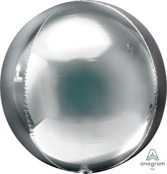 Anagram Folienballon Orbz 40cm Durchmesser Silber (Silver)