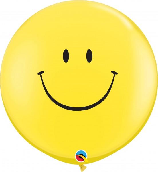 Qualatex Latexballon Smile Face Standard Yellow 90cm/3' 2 Stück