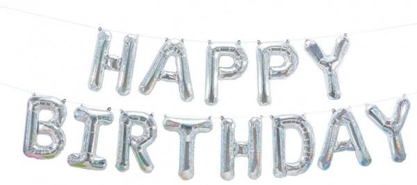 "Northstar Folienballon Happy Birthday Kit Holographic 16"""