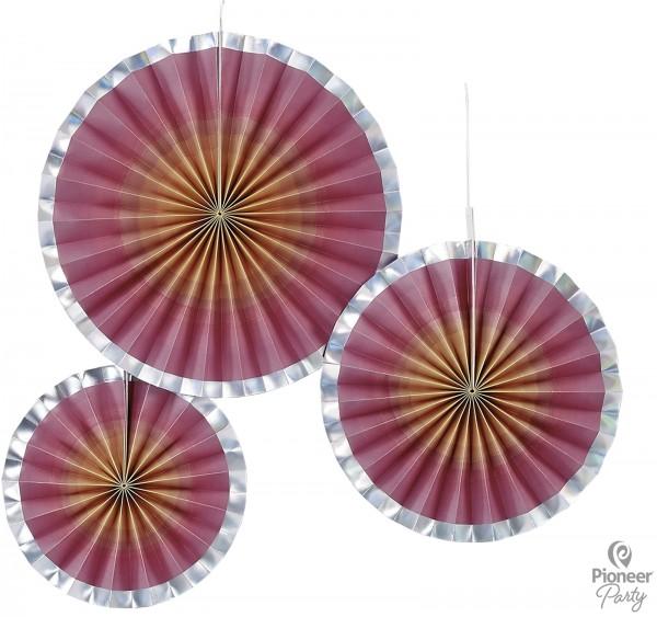 Pioneer Papier Fan Rosegold Ombre 3 Stück