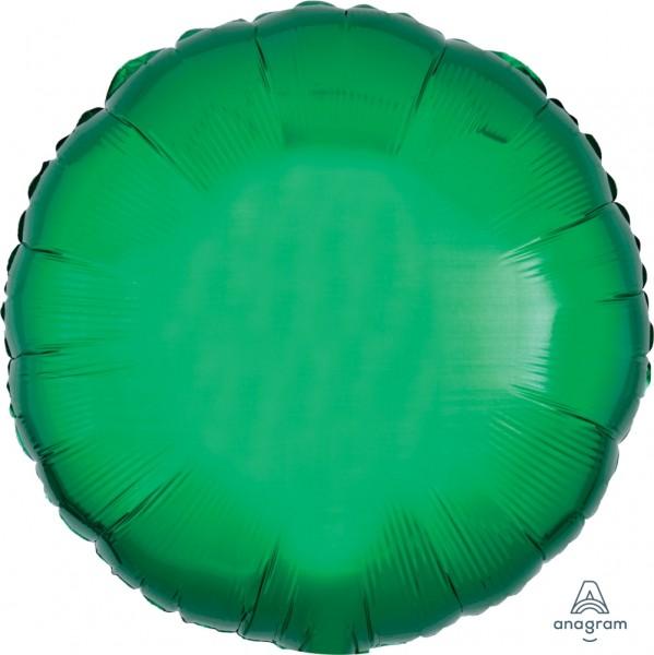 "Anagram Folienballon Rund Metallic Green 45cm/18"""