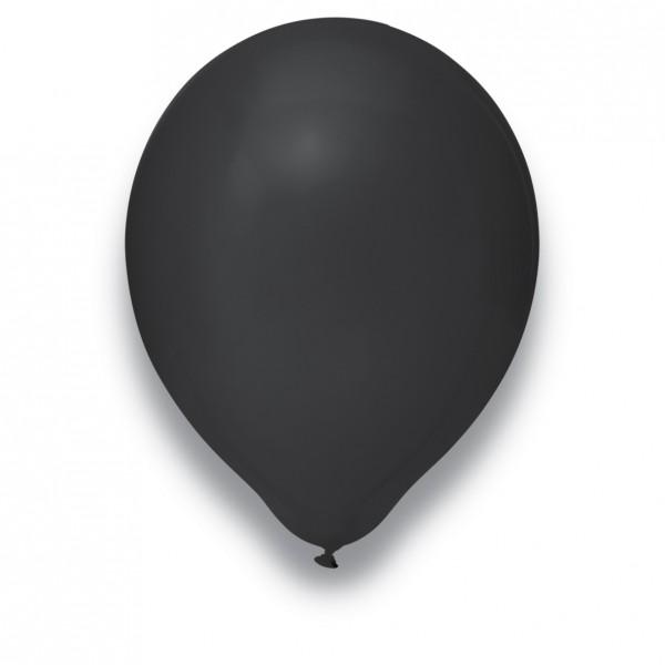 Globos Luftballons 100er Packung 30cm Durchmesser Schwarz Naturlatex