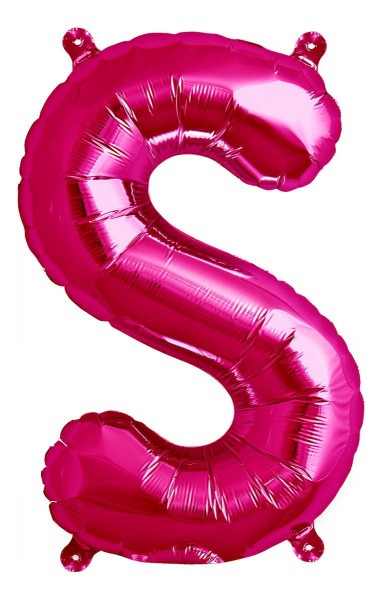 """Northstar Folienballon Buchstabe S Magenta 40cm/16"""""""