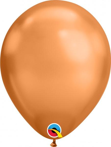 "Qualatex Latexballon Chrome Copper 28cm/11"" 25 Stück"