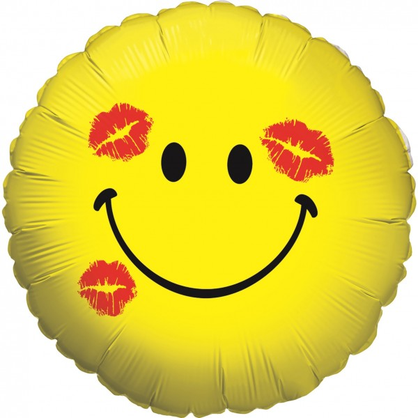 Betallic Folienballon Smiley Kiss Holo 46cm/18""