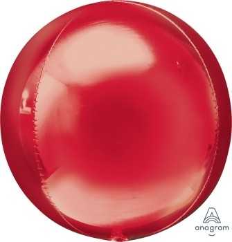 Anagram Folienballon Orbz 40cm Durchmesser Rot (Red)