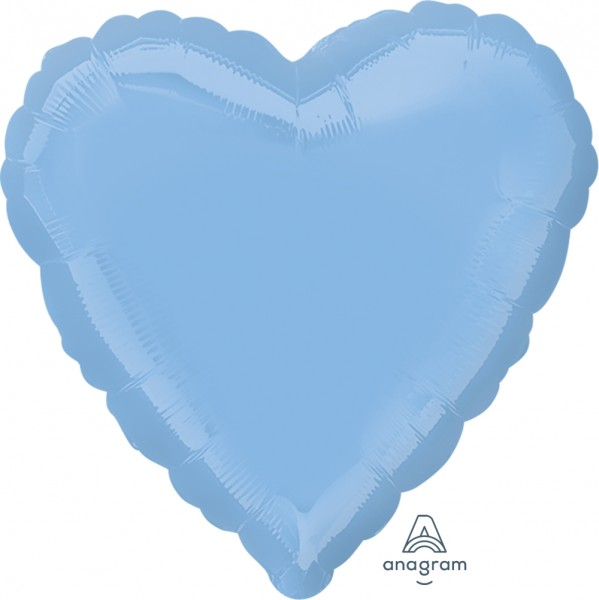 "Anagram Folienballon Herz Pastel Blue 45cm/18"""