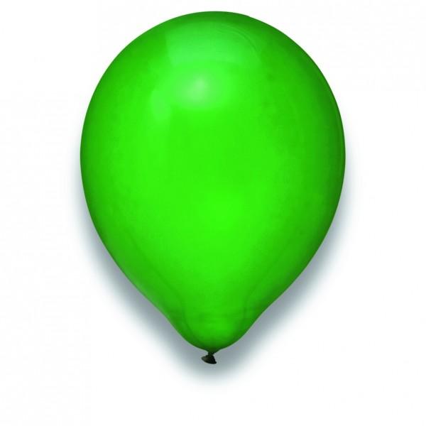 Globos Luftballons 100er Packung 30cm Durchmesser Kristall Grün Naturlatex