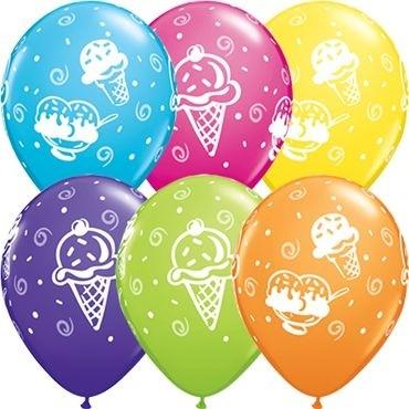 "Qualatex Latexballon Ice Cream Treats Tropical Assorted 28cm/11"" 25 Stück"