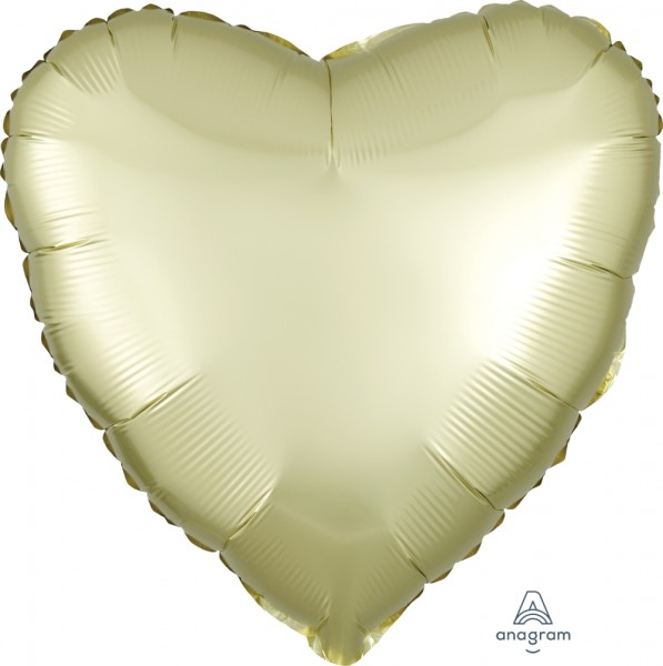Anagram Folienballon Herz Satin Luxe Pastel Yellow 45cm/18""