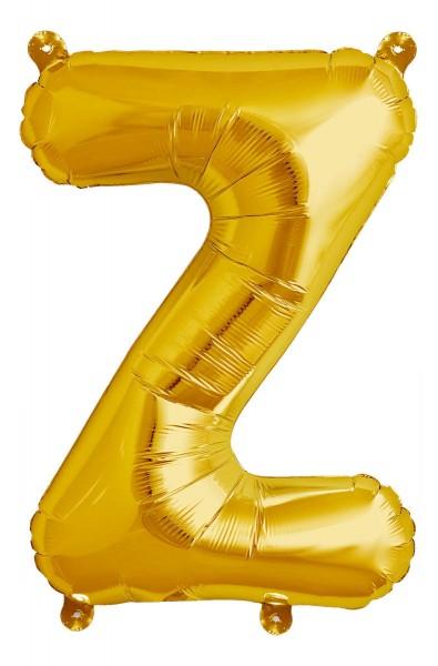 "Northstar Folienballon Buchstabe Z Gold 40cm/16"""