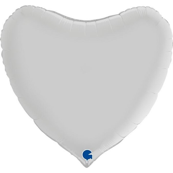 "Grabo Folienballon Heart Satin White 91cm/36"""
