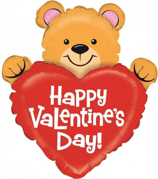 "Betallic Folienballon Mini Valentine Bear 35cm/14"""