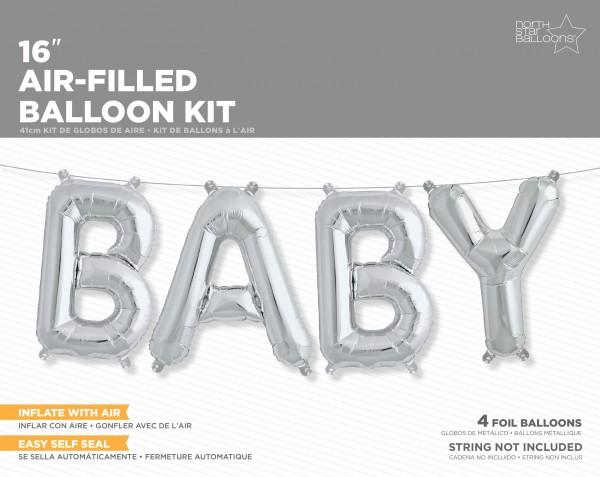 "Northstar Folienballon Baby Kit Silver 16"""