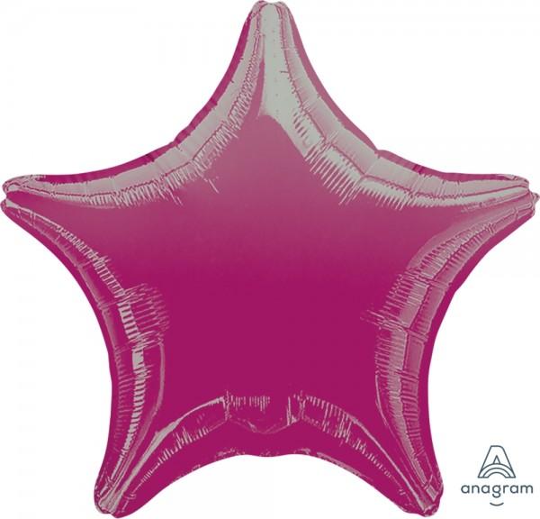 "Anagram Folienballon Stern Metallic Fuchsia 50cm/20"""