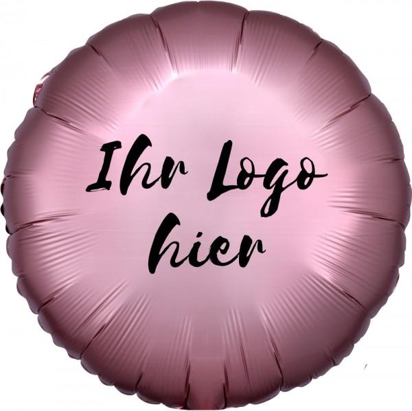 """Folien-Werbeballon Rund Satin Luxe Rose Copper 45cm/18"""" 1-Seitig bedruckt"""