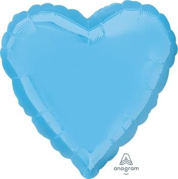 Anagram Folienballon Herz 45cm Durchmesser Hellblau (Pale Blue)