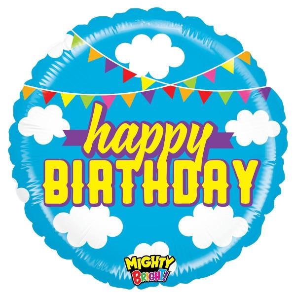 "Betallic Folienballon Mighty Birthday Clouds 53cm/21"""