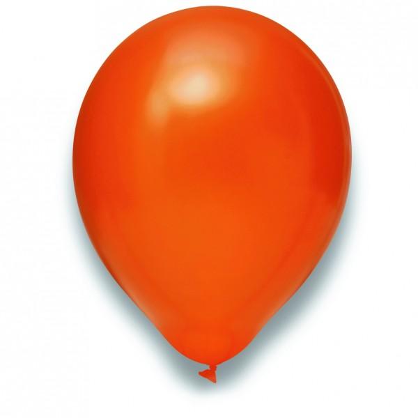 Globos Luftballons 100er Packung 30cm Durchmesser Metallic Orange Naturlatex