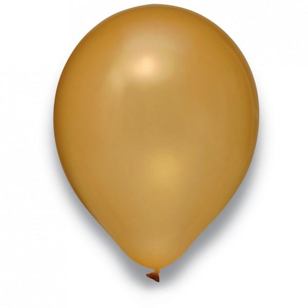 Globos Luftballons 100er Packung 30cm Durchmesser Metallic Gold Naturlatex