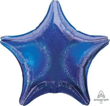 "Anagram Folienballon Stern Blue (Blue Dazzler) 20"""