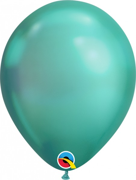 "Qualatex Latexballon Chrome Green 18cm/7"" 100 Stück"
