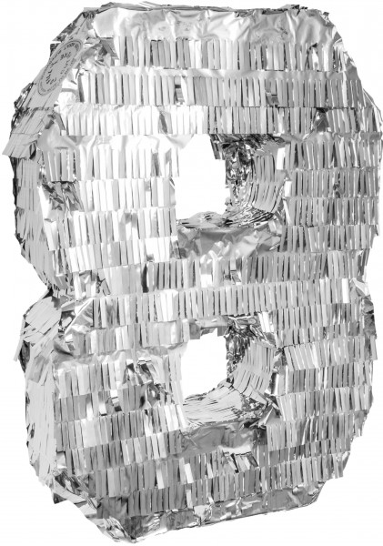 Goodtimes Pinata Zahl 8 in Silber