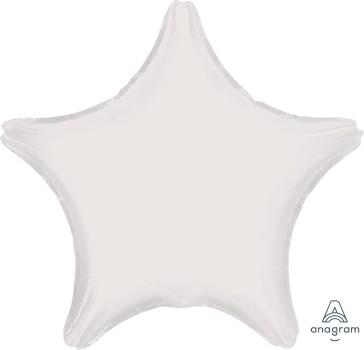 """Anagram Folienballon Stern Metallic Weiß (Metallic White) 20"""""""