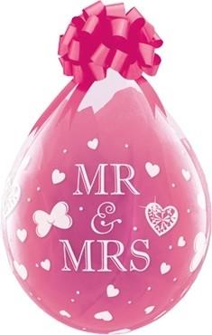 "Qualatex Verpackungsballon Mr. & Mrs. Diamond Clear 45cm/18"" 25 Stück"