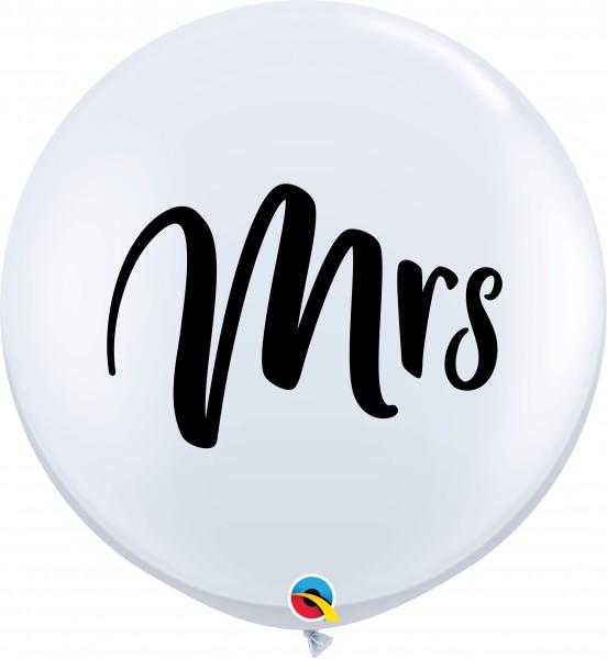 Qualatex Latexballon Mrs. White 90cm/3' 2 Stück