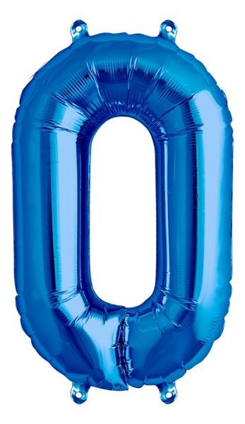 "Northstar Folienballon Zahl 0 Blue 16"""