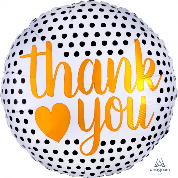 "Anagram Folienballon ""Thank You"" Modern Dots 45cm/18"""