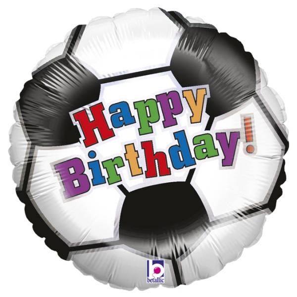 "Betallic Folienballon Soccer Ball Birthday 45cm/18"""