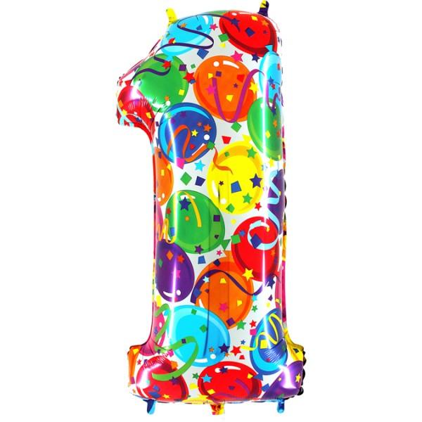 "Grabo Folienballon Zahl 1 Party 100cm/40"""