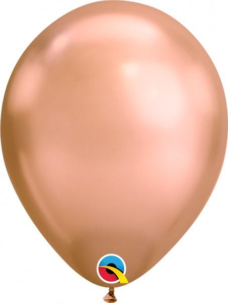 "Qualatex Latexballon Chrome Rose Gold 28cm/11"" 100 Stück"