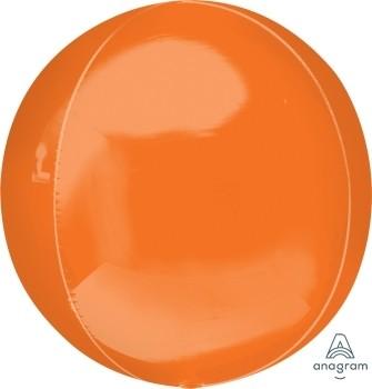 "Anagram Folienballon Orbz Orange 40cm/16"""