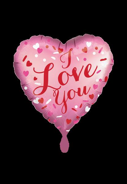 "Anagram Folienballon Herz Satin Love You Gold 45cm/18"""