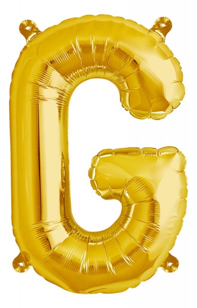 "Northstar Folienballon Buchstabe G Gold 40cm/16"""