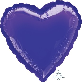Anagram Folienballon Herz 80cm Metallic Lila (Purple)