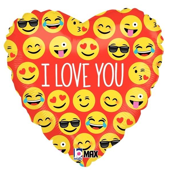"Betallic Folienballon Emoji I Love You 45cm/18"""