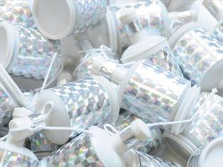 Celebration Crackers Mini-Party-Popper Silber 20 Stück