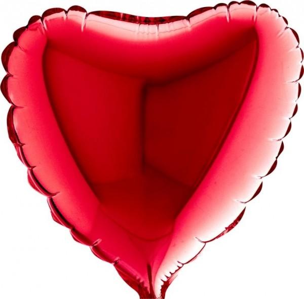 "Betallic Folienballon Heart Red 23cm/9"""